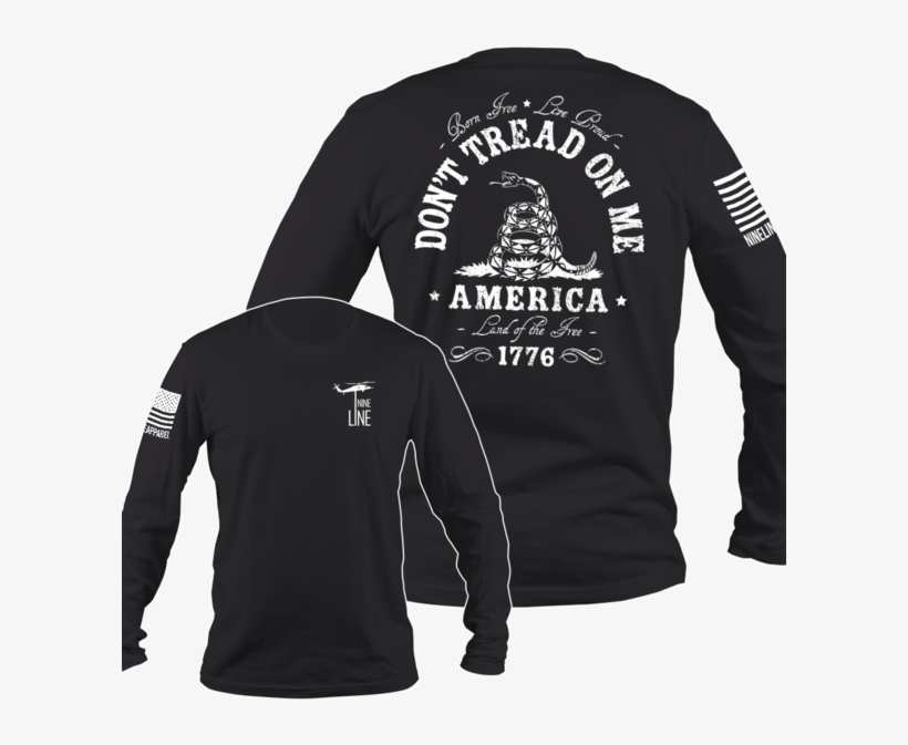 Don't Tread On Me T Shirt Nine Line Men's Long Sleeve - Don T Tread On Me Long Sleeve Shirt, transparent png #1630869