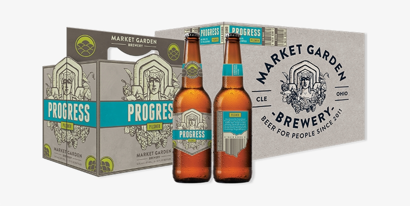 Market Garden Progress Pilsner Pours To A Hazy Golden - Market Garden Brewery Progress, transparent png #1631129