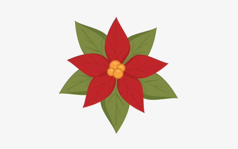 Poinsettia Svg Cutting File Christmas Svg Cut File - Poinsettia Svg Cutting File, transparent png #1631616