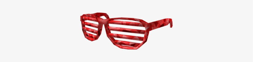 Sparkle Time Shutter Shades - Red 80s Shutter Shades, transparent png #1634415