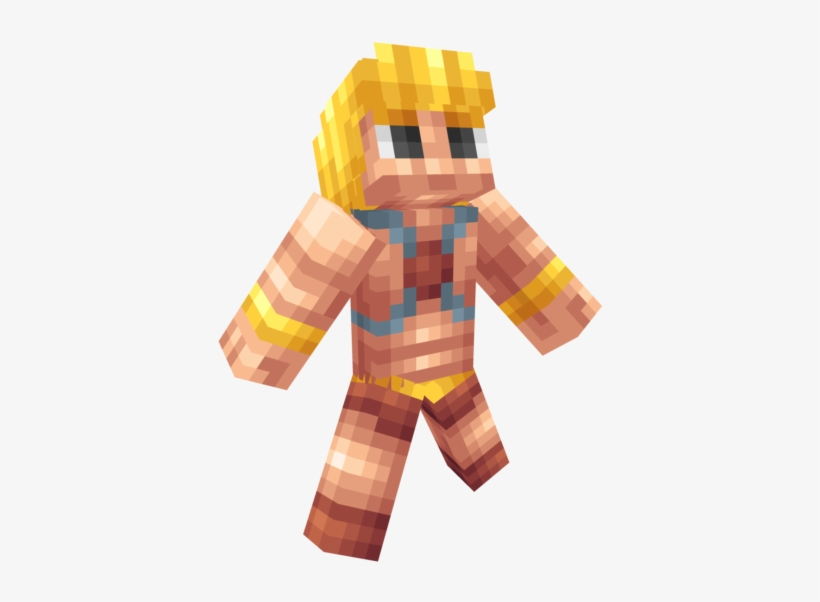 Svg Library He Man Minecraft Skin From Masters Of - Minecraft Pe He Man Skin, transparent png #1634517