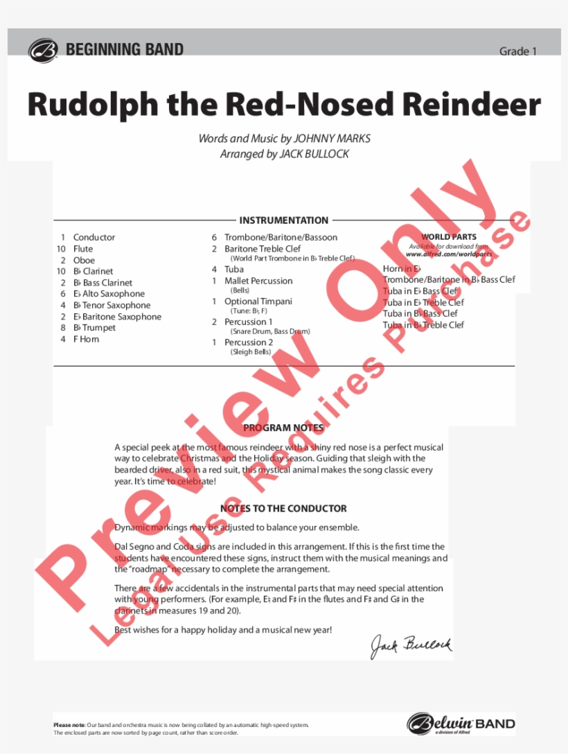 Rudolph The Red Nosed Reindeer Thumbnail - Fire's Edge Sheet Music, transparent png #1634612