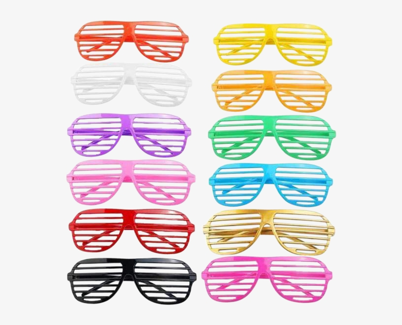 Party Color Shutter Shades Onelove Rave Life - Party Glasses Uk, transparent png #1634828