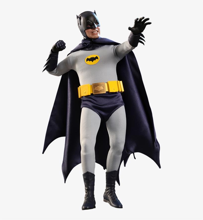 Dc Comics Sixth Scale Figure Batman - Hot Toys 1/6th 1966 Batman Figure Adam West By Hot, transparent png #1635564