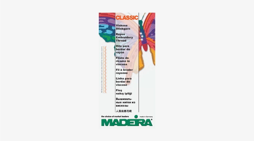100-430 Madeira Classic Rayon - Madeira Classic Rayon Color Card Embroidery Supplies, transparent png #1636076