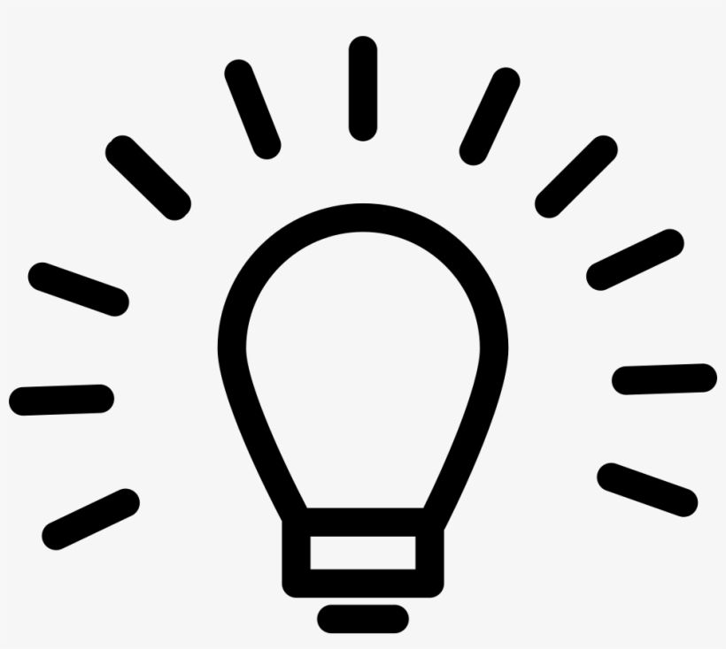 Light Bulb Outline Sign Inside A Circle Comments - Light Bulb Png Outline, transparent png #1637129