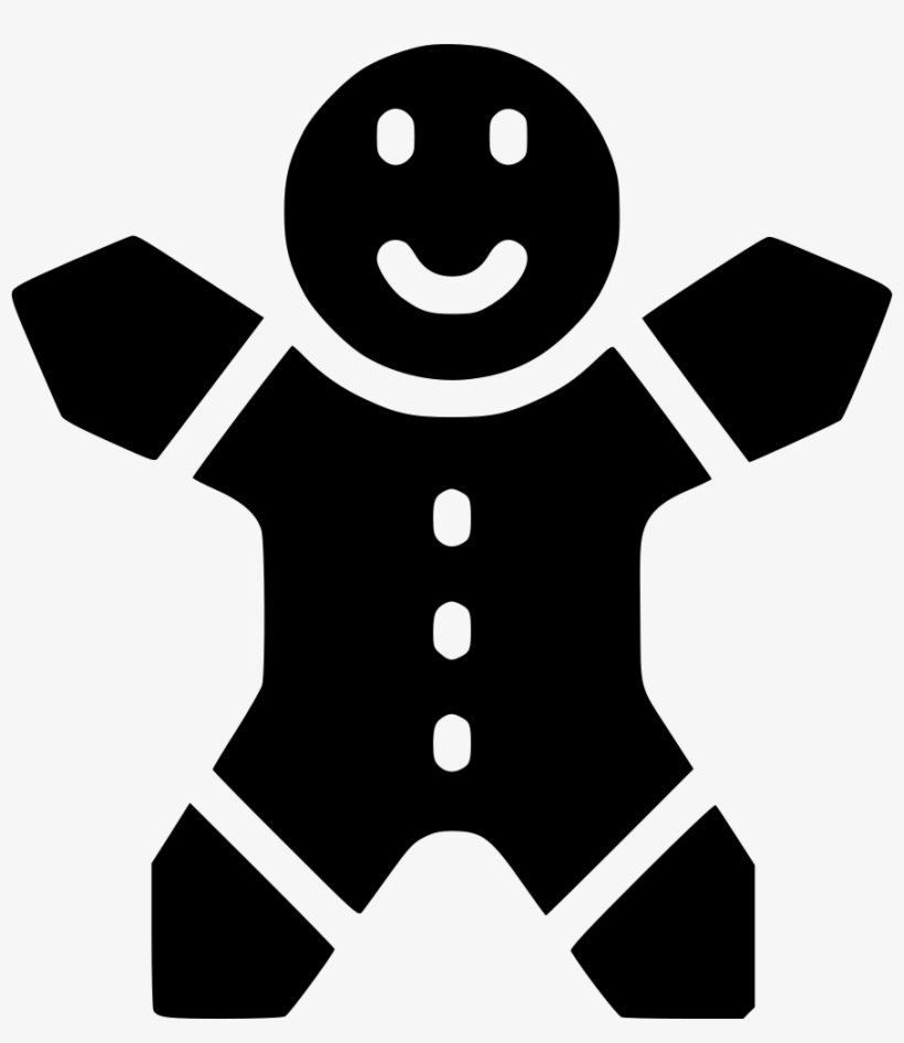 Christmas Cookie Ginger Man - Gingerbread, transparent png #1638445