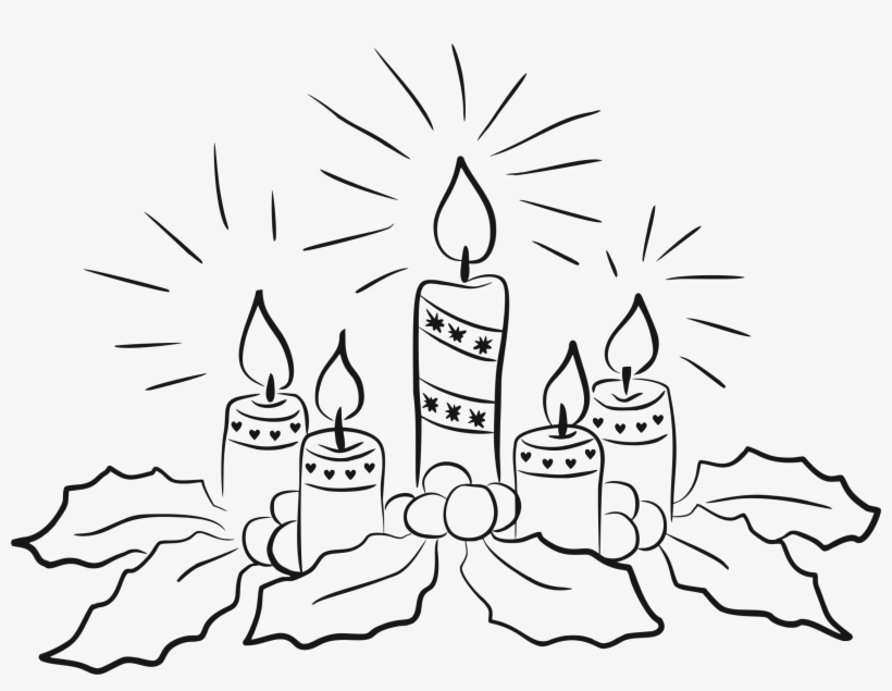 Vector Freeuse Candles Line Art Big Image