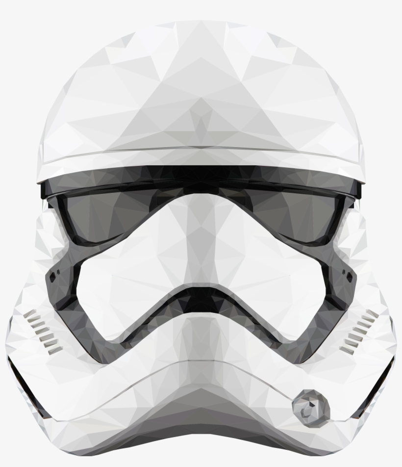 Fan Creationsdecided To Make A Low Poly First Order - Star Wars First Order Stormtrooper Helmet Special, transparent png #1639697