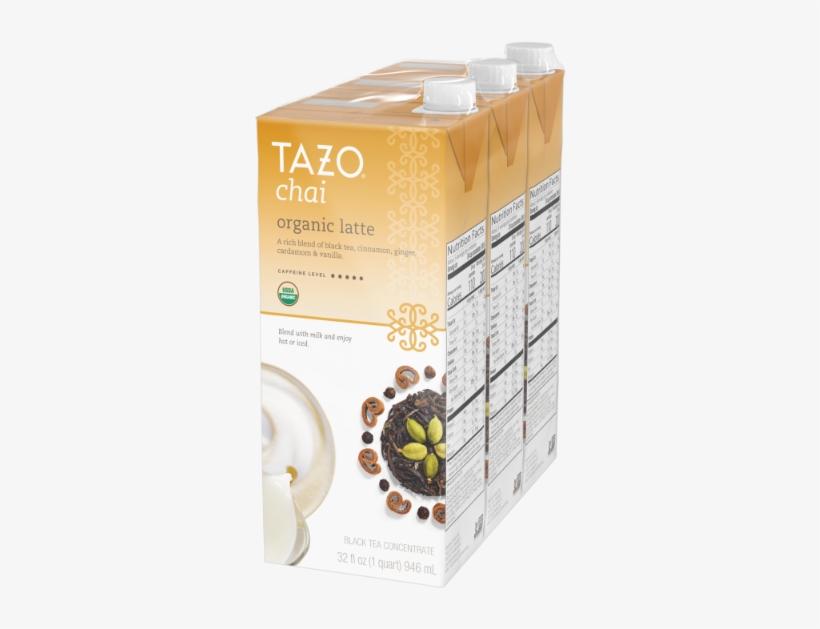 Tazo Organic Chai Latte Concentrate Black Tea 32 Oz - Tazo Organic Chai Tea Latte 32 Oz, transparent png #1640129