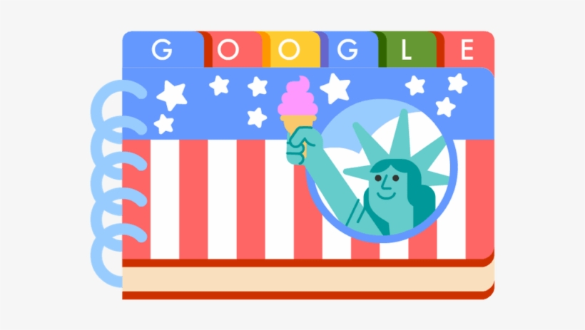 The Fourth Of July Is Tomorrow, But Google Has Uploaded - 4th Of July Google Doodle 2018, transparent png #1640393