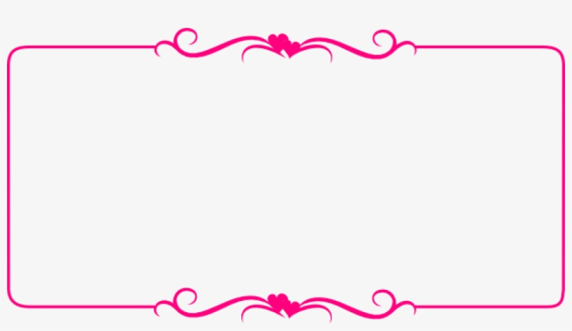Free Png Pink Border Frame Png Images Transparent - Hearts Border, transparent png #1642697