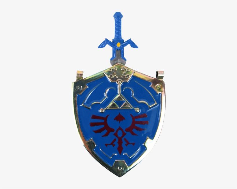 Zelda Clipart Master Sword - Blue Master Sword And Shield Necklace, transparent png #1644447