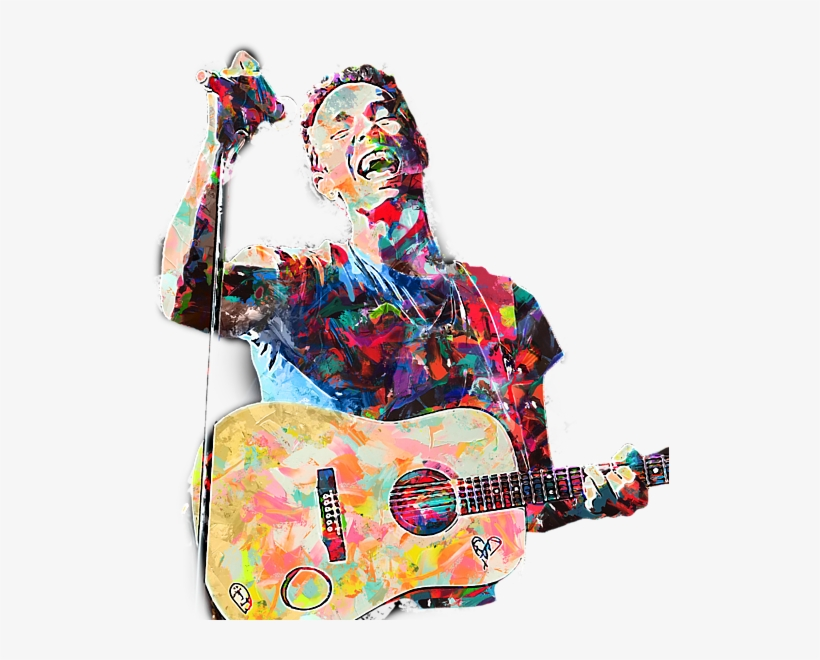 Click And Drag To Re-position The Image, If Desired - Chris Martin Painting Coldplay, transparent png #1644941