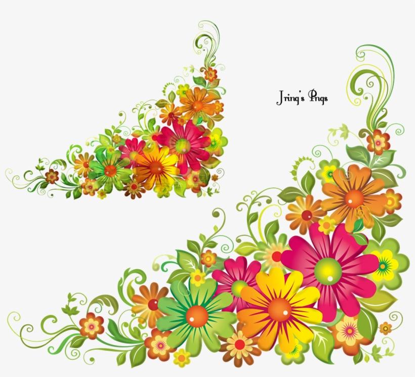 Corner Flower - Flower Corner Design Hd, transparent png #1645001