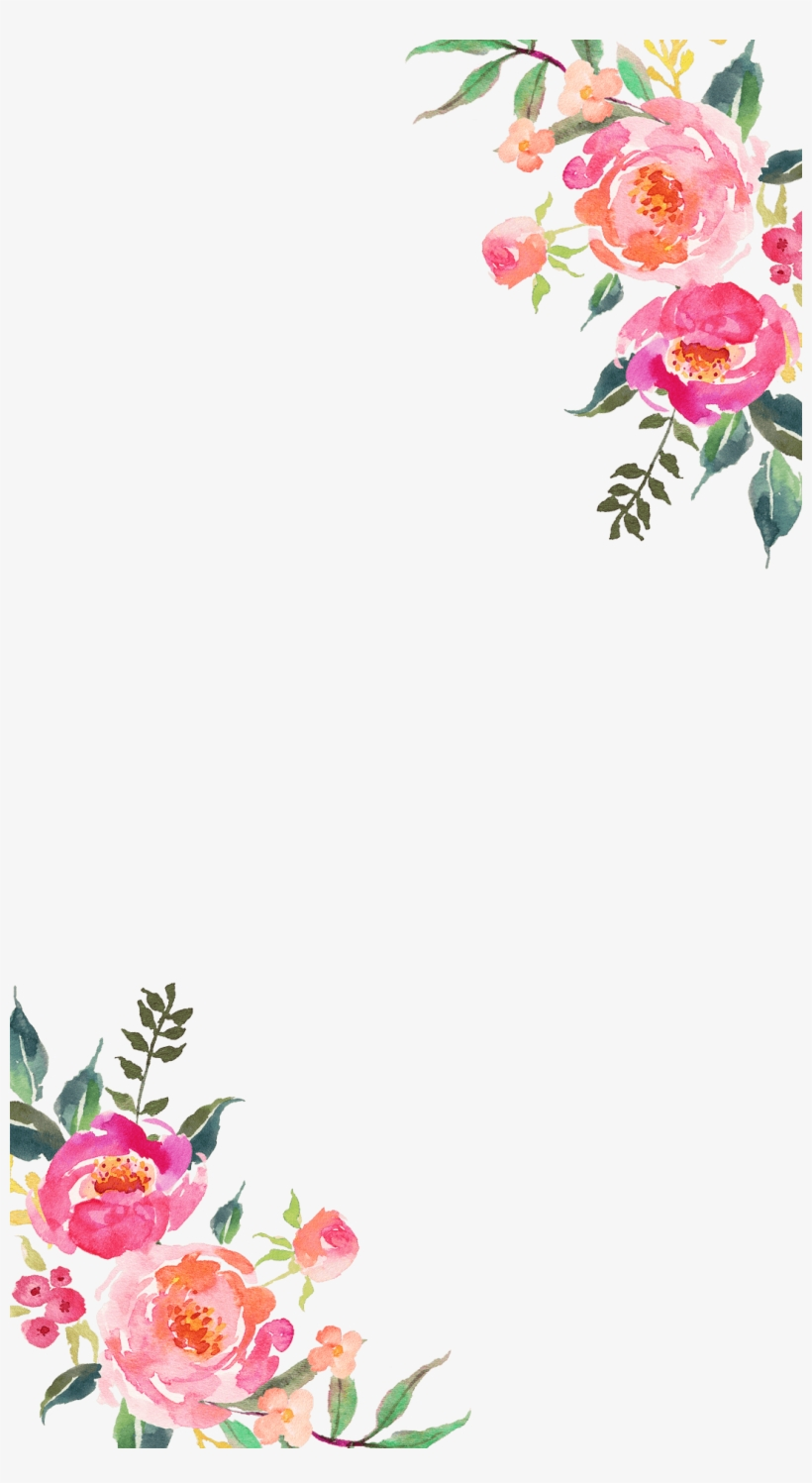 Corner Flower - Transparent Corner Flower Design, transparent png #1645109