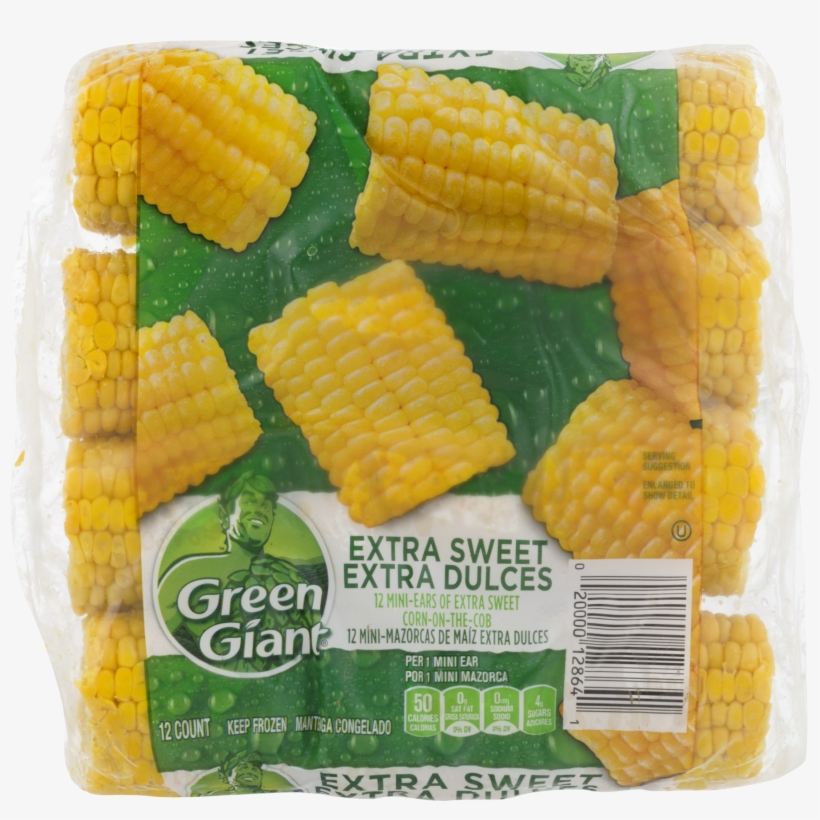 Green Giant Extra Sweet Corn On The Cob Mini Ears, - Green Giant Valley Fresh Steamers Sweet Peas - 12 Oz, transparent png #1646344