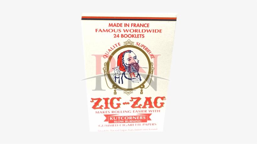 Kutcorners Slow Burning - Zig Zag Cigarette Papers - 32 Leaves, transparent png #1647824