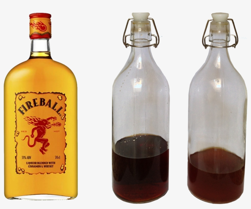 #howto Make Fireball Whiskey At Home We Just Got Some - 1 Liter Fireball Cinnamon Whisky, transparent png #1648689