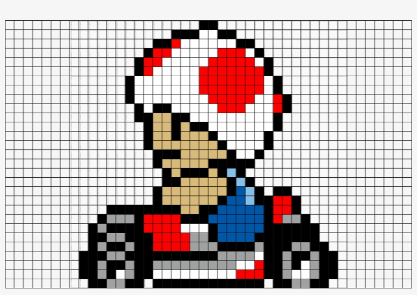 Pixel Art Mario Kart Free Transparent Png Download Pngkey