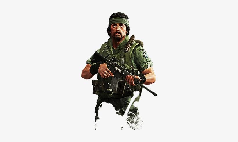 Rambo Holding Gun Png, transparent png #1651701