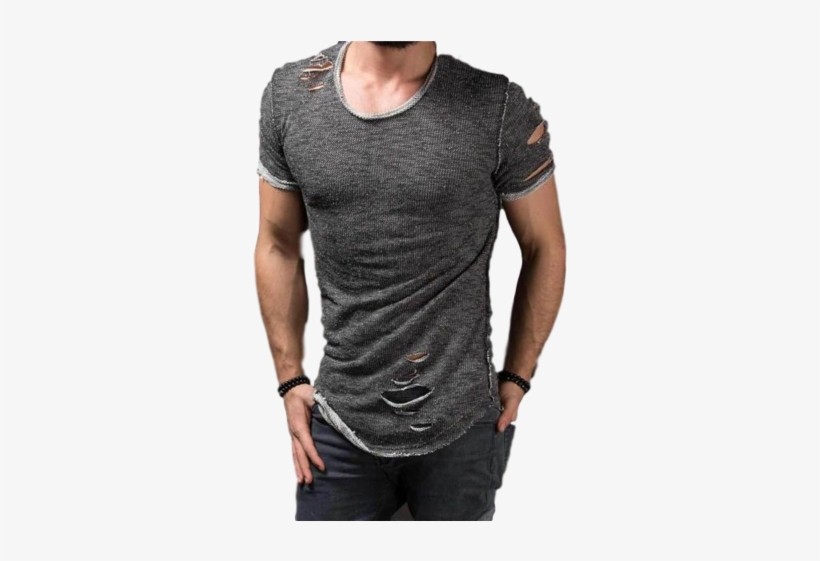 Mens Ripped Street Wear T-shirtstop - New Funky Look T Shirt Mens, transparent png #1655814
