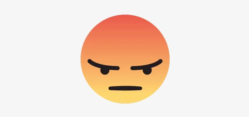 Angry facebook emoji