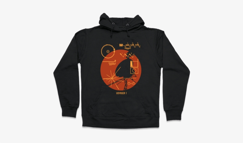 Retro Voyager 1 Golden Record Hooded Sweatshirt - All My Friends Are Dead Push Me, transparent png #1658210