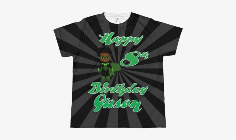 Superboy Green Lattern Birthday All-over Tee - Paul & Joe Sister Bobby T-shirt, transparent png #1659682