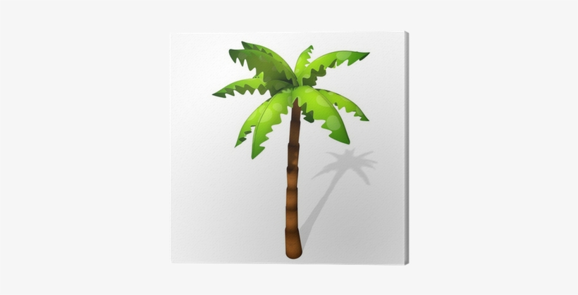 3d Illustration Of A Cartoon Palm Tree Canvas Print - Transparent Pics Of Coconut Tree, transparent png #1661049