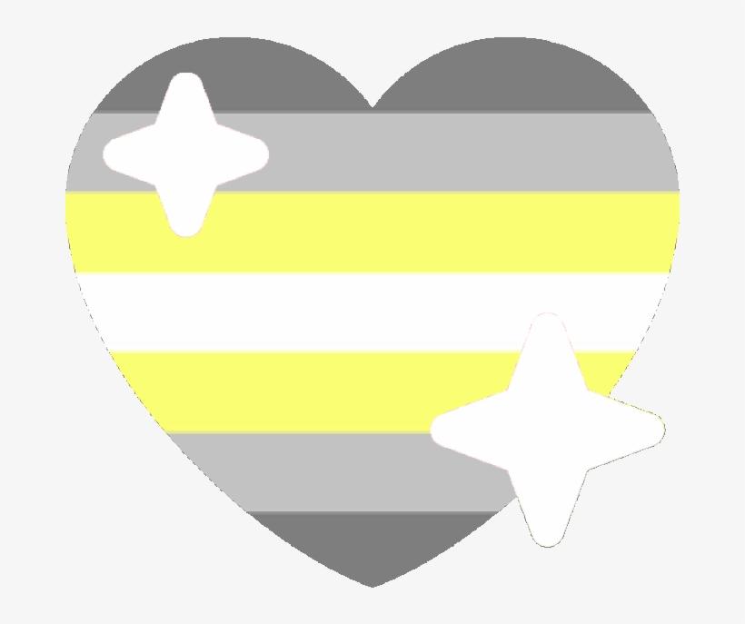 Demi Nonbinary Sparkle Heart Discord Emoji - Gay Heart Emoji