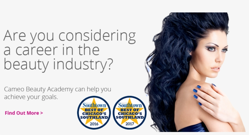 Are You Considering A Career In The Beauty Industry - Blue Black Hair Colour Styles 2016, transparent png #1665111