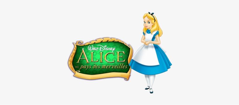 Alice In Wonderland Movie Image With Logo And Character - Alicia En El Pais De Las Maravillas Caricatura, transparent png #1668622