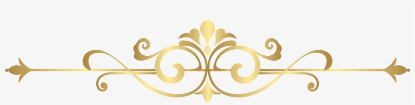 Decorative Clipart Decoration - Decorative Gold Line Png, transparent png #1670534