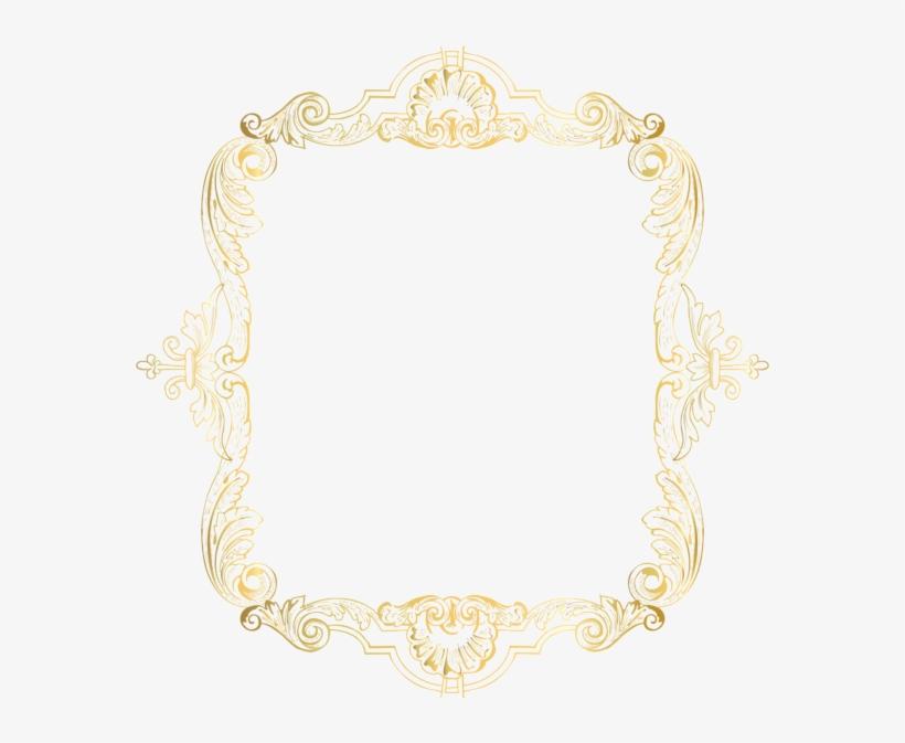 Vintage Square Gold Golden Frame Border Squareframe - Motif, transparent png #1671269
