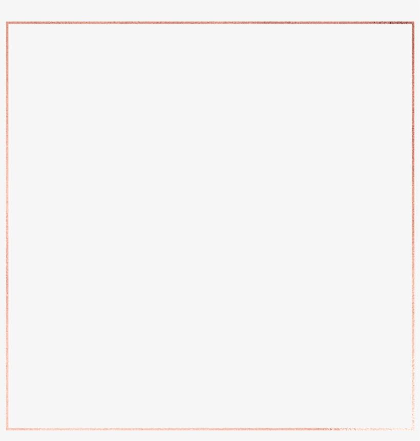 Rose Gold Frame 700w - Golden Square Border Png, transparent png #1672486