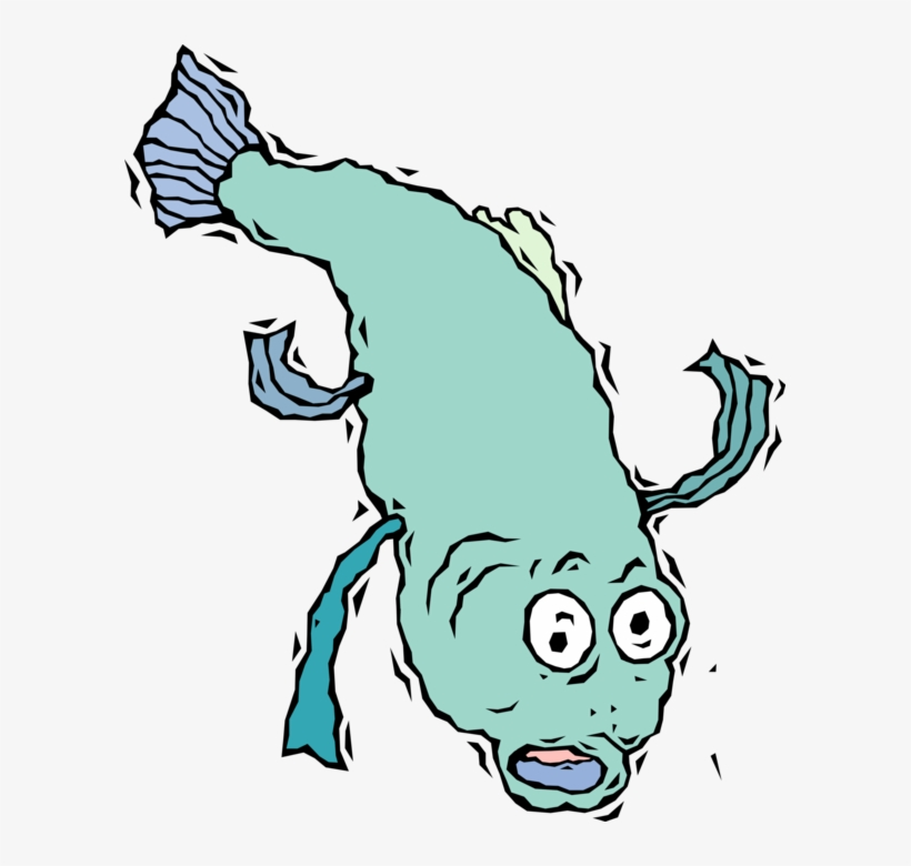 Vector Illustration Of Fish Jumps Out Of The Water, transparent png #1673300