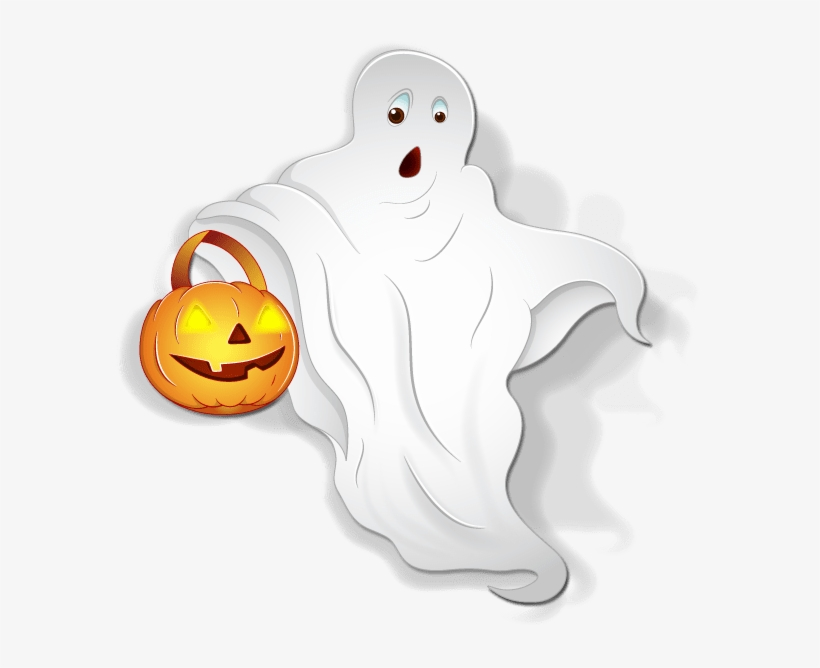 Halloween-ghost - Halloween Ghost Clipart, transparent png #1675488