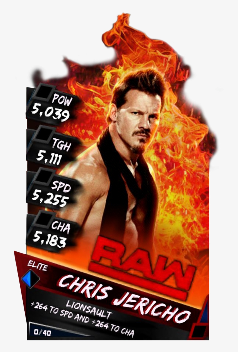 Supercard Chrisjericho S3 Elite Raw 9635 - Wwe Supercard Elite Seth Rollins, transparent png #1675944