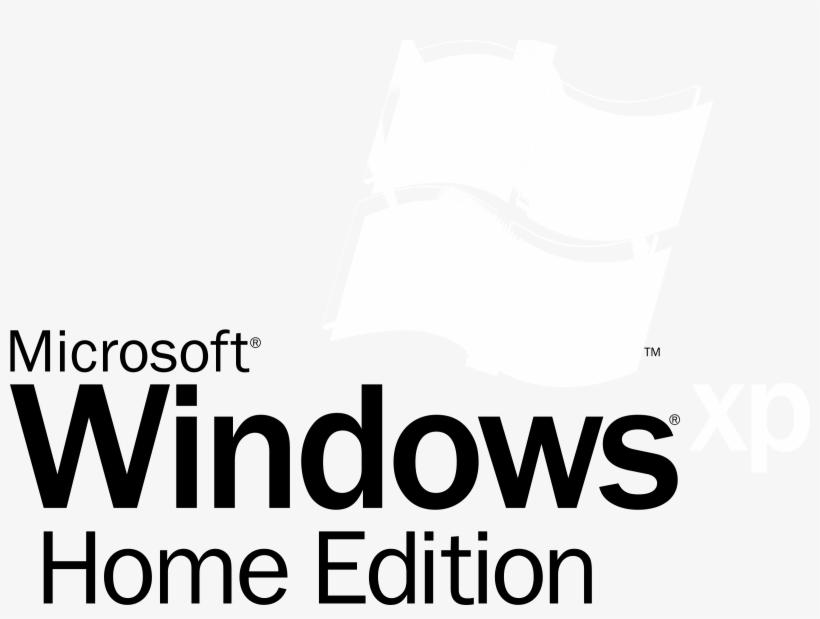 Microsoft windows xp home edition logo vector (. Eps) free download.