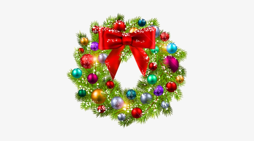 Christmas Wreaths - Christmas Wreath Clipart Free, transparent png #1676382