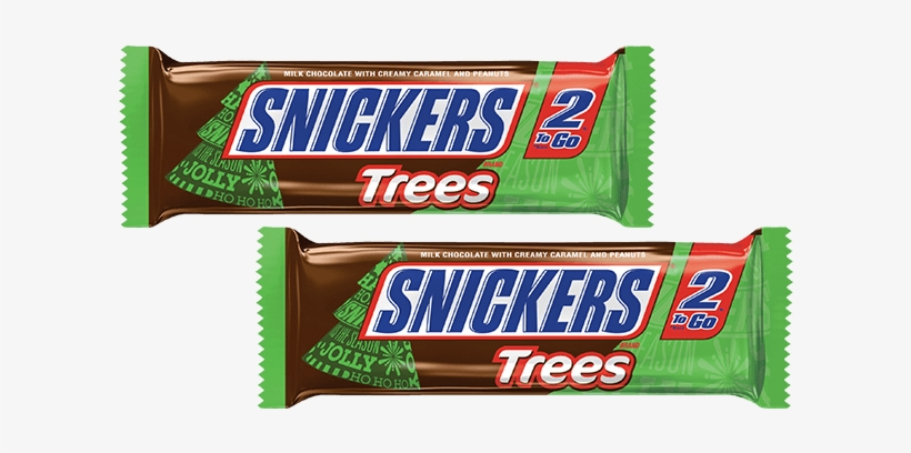 Snickers King Size Holiday Candy Bars For Just $0 - Snickers Candy, Trees, 2 To Go - 24 Pack, 2.83 Oz Pkgs, transparent png #1679121