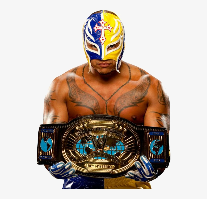 Rey Mysterio Png Clipart - Rey Mysterio Intercontinental Champion, transparent png #1681922
