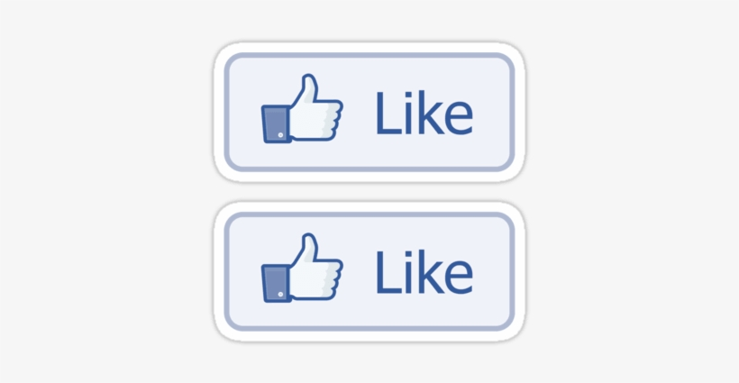 Facebook Like Button ×2 Sticker - Facebook Like Button, transparent png #1682085