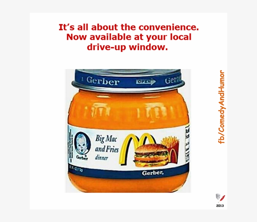 Mcdonald's Baby Food - Funny Gerber Baby Food, transparent png #1683190