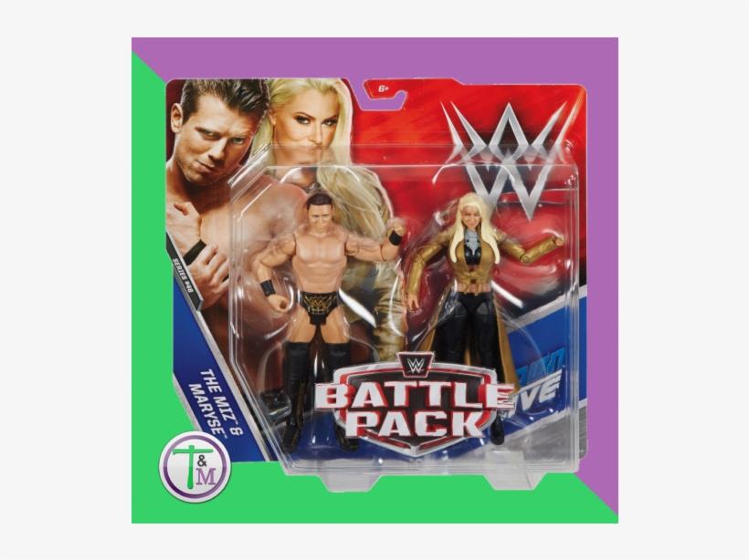 Maryse & The Miz Wwe Battle Pack Series 46 Wrestling - Wwe The Miz & Maryse Action Figure (2 Pack), transparent png #1684714