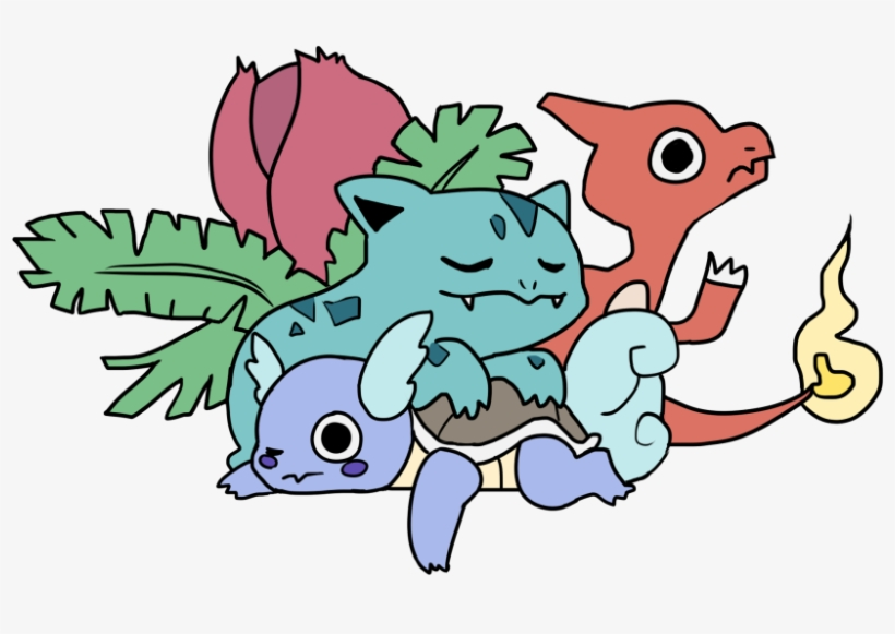 Art Pokemon Venusaur Charmander Bulbasaur Squirtle We