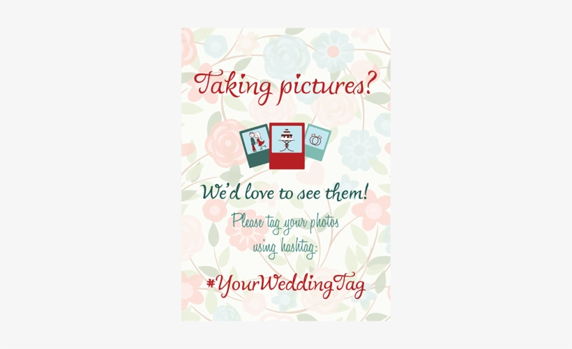 You Can Choose Your Personal Wedding Hashtag On Our - Hashtag, transparent png #1686924