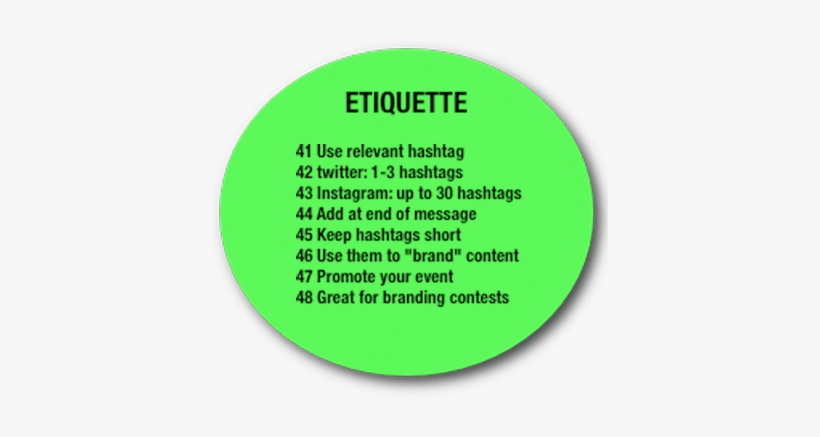 Hashtag Etiquette - Etiquette In Instagram Hashtag, transparent png #1687038