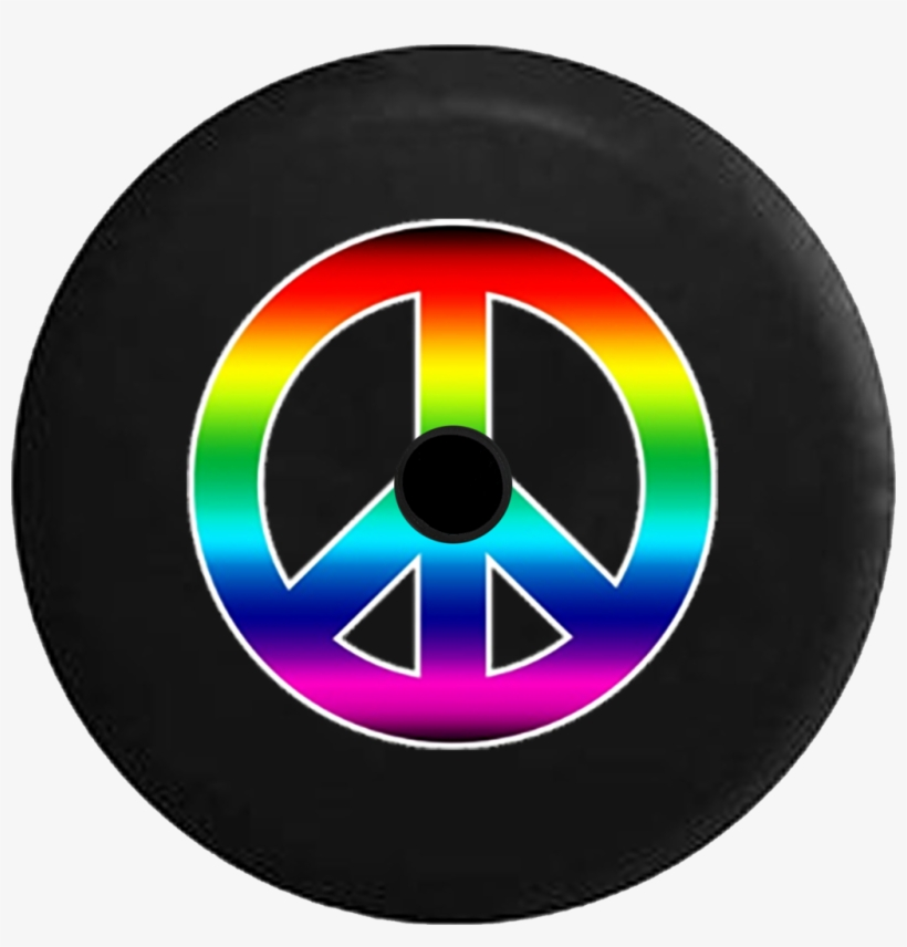 Jeep Wrangler Jl Backup Camera Day Rainbow Colorful - Peace Sign, transparent png #1687551